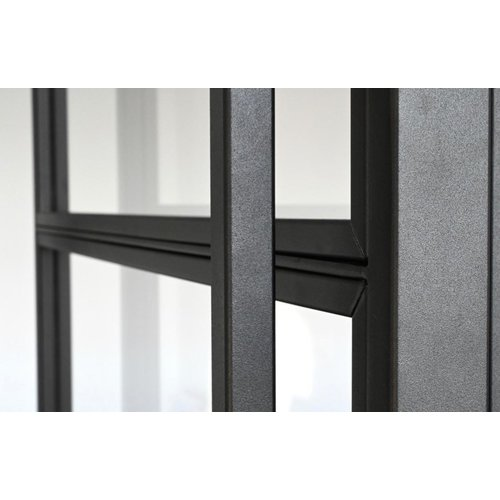 Staalo Enkele paumelle deur met 2 zijlichten- 2580x2760mm