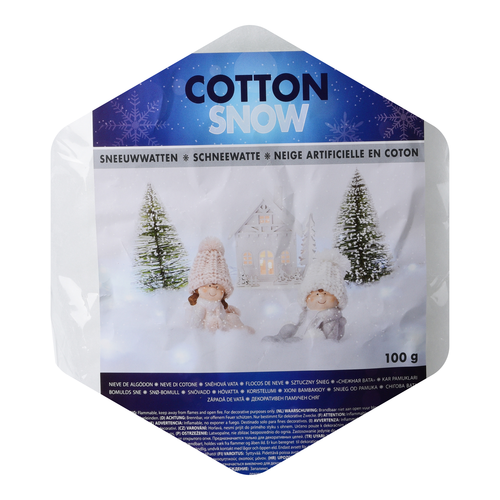 Sneeuwwatten zigzag - 100 gram