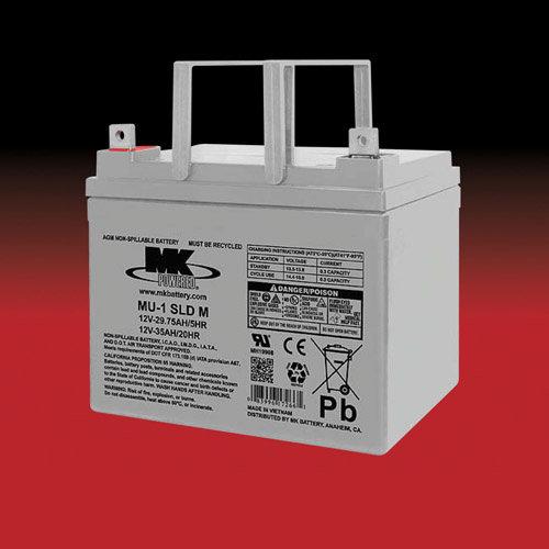 MK Battery MK 12v 35Ah MU-1 SLD M AGM accu