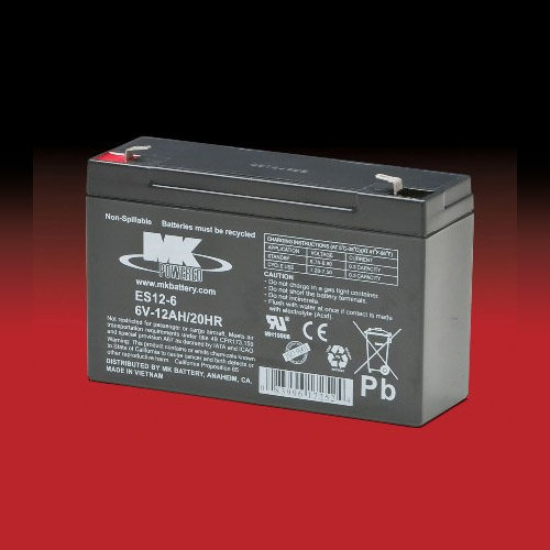 MK Battery MK 6v 12Ah ES12-6 AGM accu