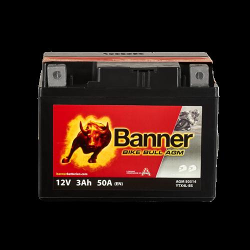 Banner Banner Bike Bull AGM 50314 YTX4L-BS 12V 3Ah