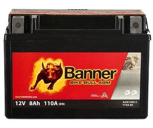 Banner Bike Bull AGM 50812 YTX9-BS 12V 8Ah (eq 508012008 Varta YTX9)
