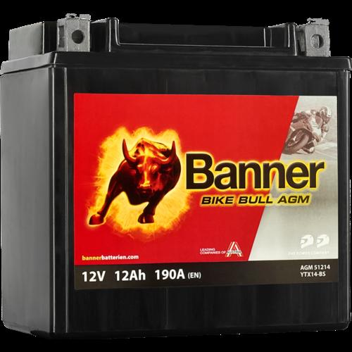 Banner Banner Bike Bull AGM 51214 YTX14-BS 12V 12Ah