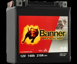 Banner Bike Bull AGM 51422 YTX16-BS 12V 14Ah