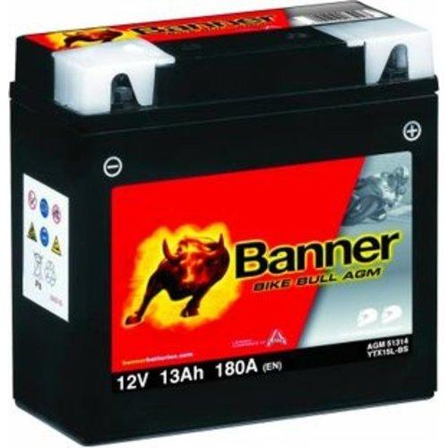 Banner Banner Bike Bull AGM 51314 YTX15L-BS 12V 13Ah
