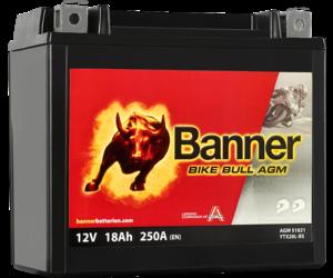 Banner Bike Bull AGM 51821 YTX20L-BS 12V 18Ah (eq 518901026 Varta YTX20L-BS)