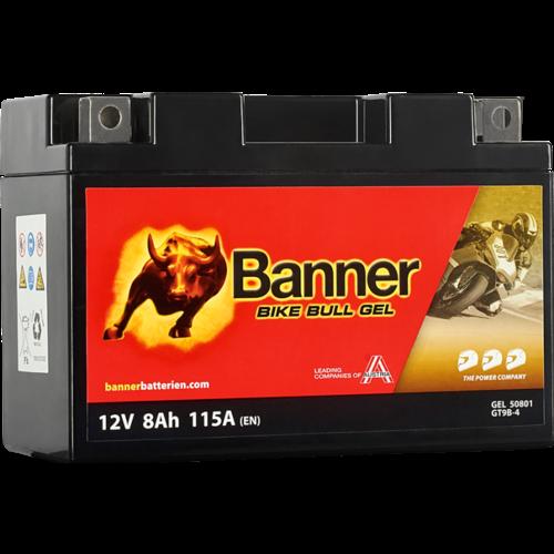 Banner Banner Bike Bull GEL 50801 YT9B-BS 12V 8Ah