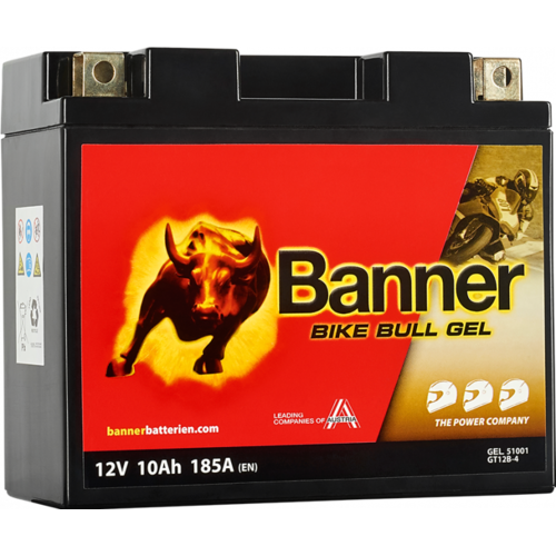 Banner Banner Bike Bull GEL 51001 YT12B-4 YT12B-BS 12V 10Ah