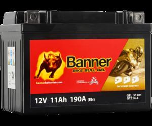 Banner Bike Bull GEL 51201 YT14B-4 GTZ14-4 12V 11Ah