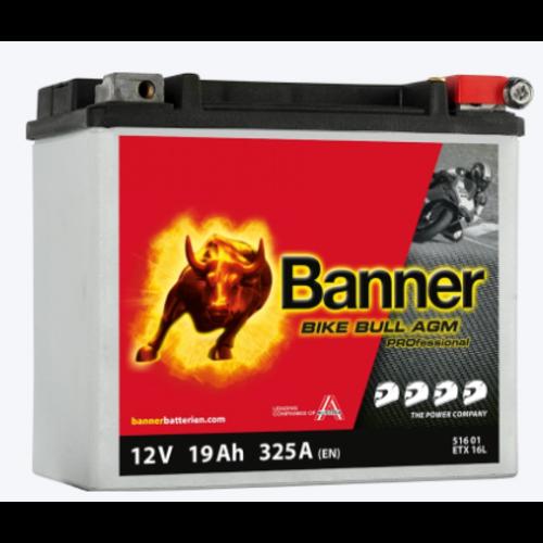 Banner Banner Bike Bull AGM PRO YB16HL-A-CX ETX 16L 12V 19Ah