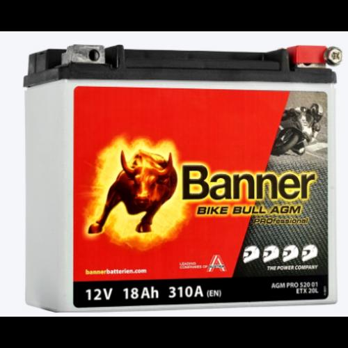Banner Banner Bike Bull AGM PRO YTX20L-BS ETX 20L