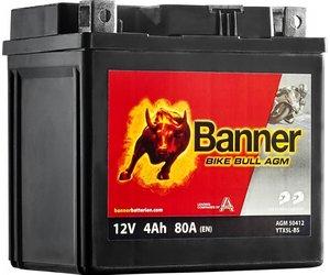 Banner Bike Bull AGM 50412 YTX5L-BS 12V 4Ah