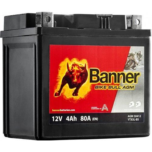Banner Banner Bike Bull AGM 50412 YTX5L-BS 12V 4Ah