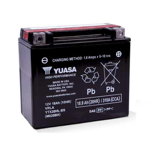 Yuasa Yuasa YTX20HL-BS Combi pack 12V 18Ah COMBI PACK Incl. Loodzuurpakket