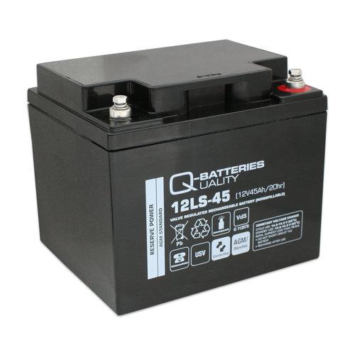 Q-Batteries Q-Batteries 12v 45Ah AGM accu