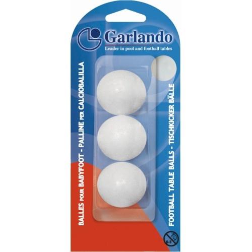 Garlando  3x tafelvoetbal balletjes 33 mm - Wit Garlando