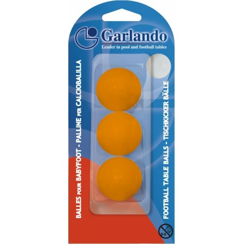 Garlando  3x tafelvoetbal balletjes 33 mm - Oranje Garlando