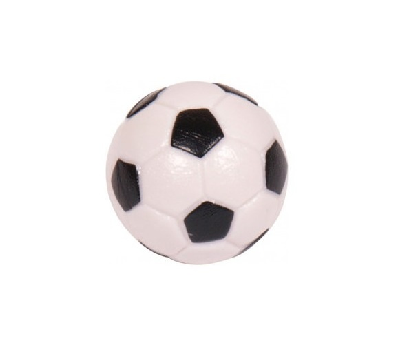 Voetbaltafelballetje Zwart / Wit 10 stuks