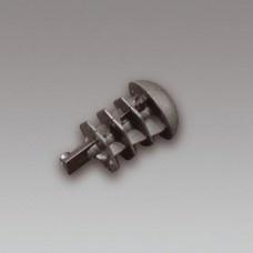 Garlando / onderdelen Plastic push zwart voor alle 16 mm stangen