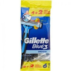 Gillette Gillette Wegwerpmesjes Men - Blue3 Smooth 4+2 st.