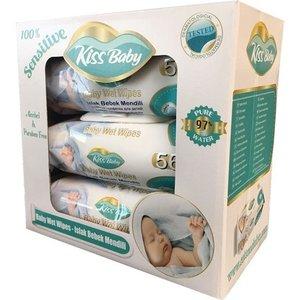 Kiss Baby Baby Wet Wipes 3 x 56 pcs(3pak in 1)