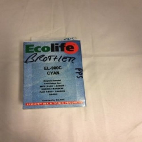 Ecolife Brother EL-900C Cyan -12DS-591 Replacement cartridge for- MFC210C-420CN-620CN-5440CN