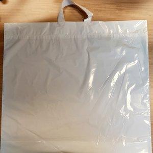 LDPE Tas,LDPE, Lus, 55x50+2x5cm 45my wit 250 stuks,lusdraagtas