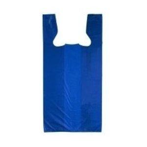 Tas, HDPE, Hemd, 25x 12x45cm, hemdtas, blauw,10my,2000st
