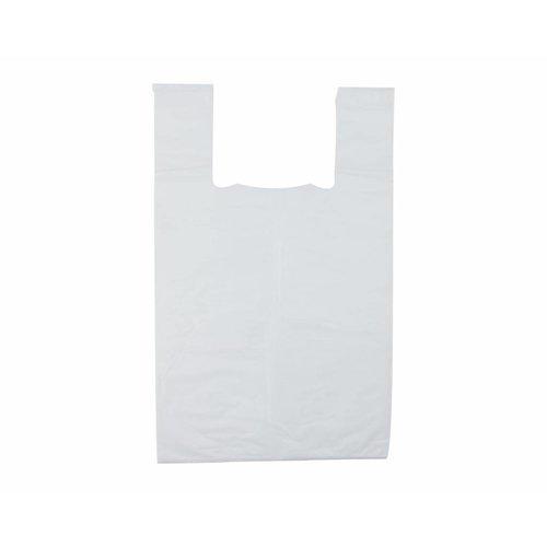 Tas, HDPE, Hemd, 25x 12x45cm, hemdtas, wit,21my,1000st