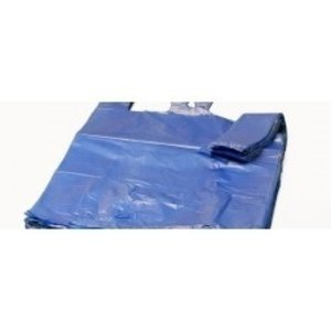 Tas, HDPE, Hemd, 28x14x48cm, hemdtas, Blauw,21my,1000st