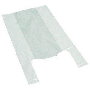 Tas, HDPE, Hemd, 28x 7x48cm, hemdtas, wit,11my extra sterk,2000st