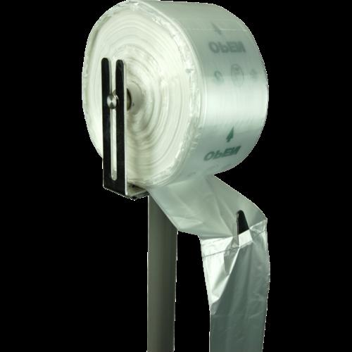Zak, AGF-zak, HDPE, 20/ 9x51cm, 8my, transparant,8my,750 stuks
