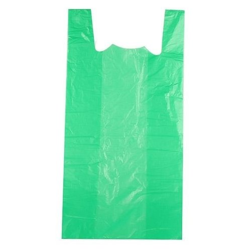 Tas, HDPE, Hemd, 30x18x55cm, hemdtas, groen 2000st 13my