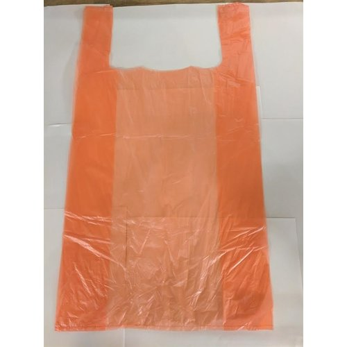 Onbekend Tas, HDPE, Hemd, 30x18x55cm, hemdtas, Oranje,13my,2000st