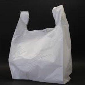 Tas, HDPE, Hemd, 30x18x55cm, hemdtas, wit 2000 st,13my
