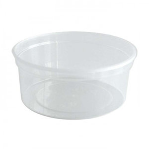 Cup, PP,MW Rond, 350cc, Ø 115mm, 50mm, transparant,50st(hupack)