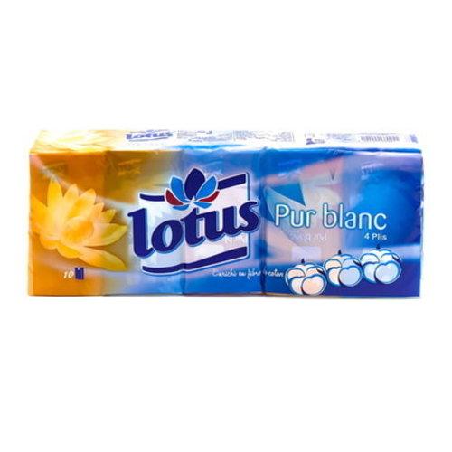 Lotus Lotus Zakdoekjes - Pur Blank  4 lagen 10 zak