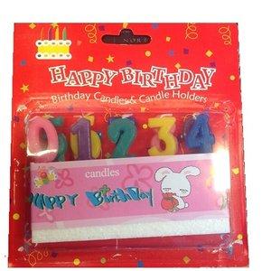Onbekend Happy Birthday Cijfers 0 t/m 9 Gekleurd -6DS-1125