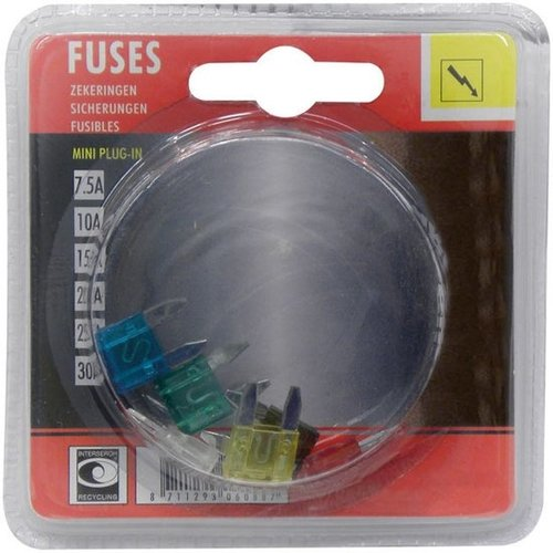 Carpoint steekverzekering- Fuses 7.5A/10A/15A/20A/25A/30A-1DS-591