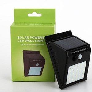 Onbekend Solar Powered Led Wall Light Pir sensor + CDS night sensor -1DS-1