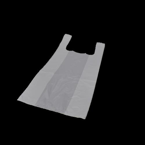 Onbekend Tas, HDPE, Hemd, 30x20x60cm, hemdtas, wit 1000st