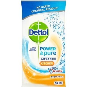 Dettol Dettol Hygienische Doekjes - Power & Pure Kitchen 32 stuks 9 ds