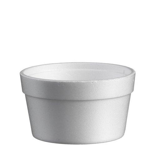 Foampot, EPS,soep cup 355ml, 12oz, 106mm, wit 25 st