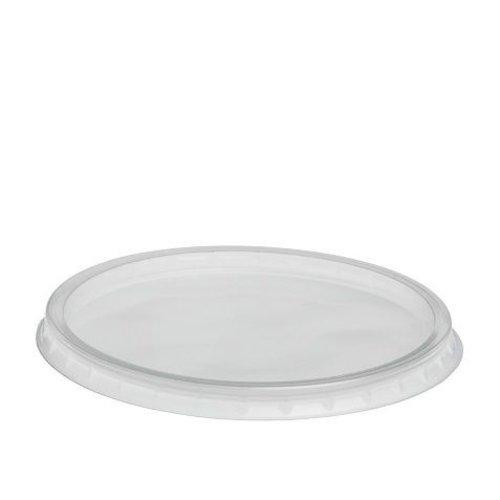 Deksel,R Rond< PP, Ø140mm, transparant,100st,voor 350CC T/M 750CC