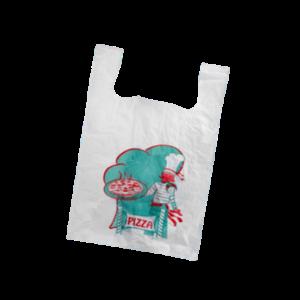 Pizza Tas, HDPE, Hemd, 40x30x60cm, hemdtas, wit 1000st 22my