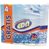Eda Toiletpapier Wit 2laag 24 rollen wc papier,duurzaam, 100 % recycling