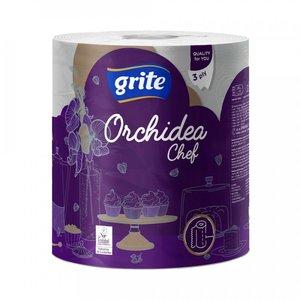 Grite Orchidea Chef Keukenrol XL  Wit 3-laag 230 vel Keukenpapier -