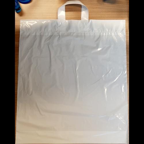 Onbekend Tas,LDPE, Lus, 46x52+2x5cm 45my wit 250 stuks,lusdraagtas