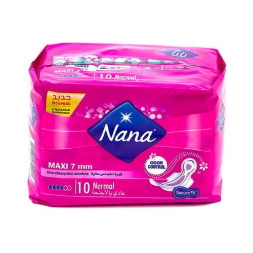 Nana maandverband maxi normal 7mm met vleugeltjes 10st 24 ds