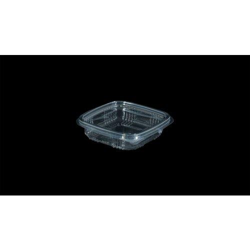 Bak, PET, 150ml, saladebak, 85x90x30mm, transparant,vaste deksel,100 stuks-6ds